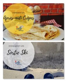 Evenements UFE Crepes et Sortie ski