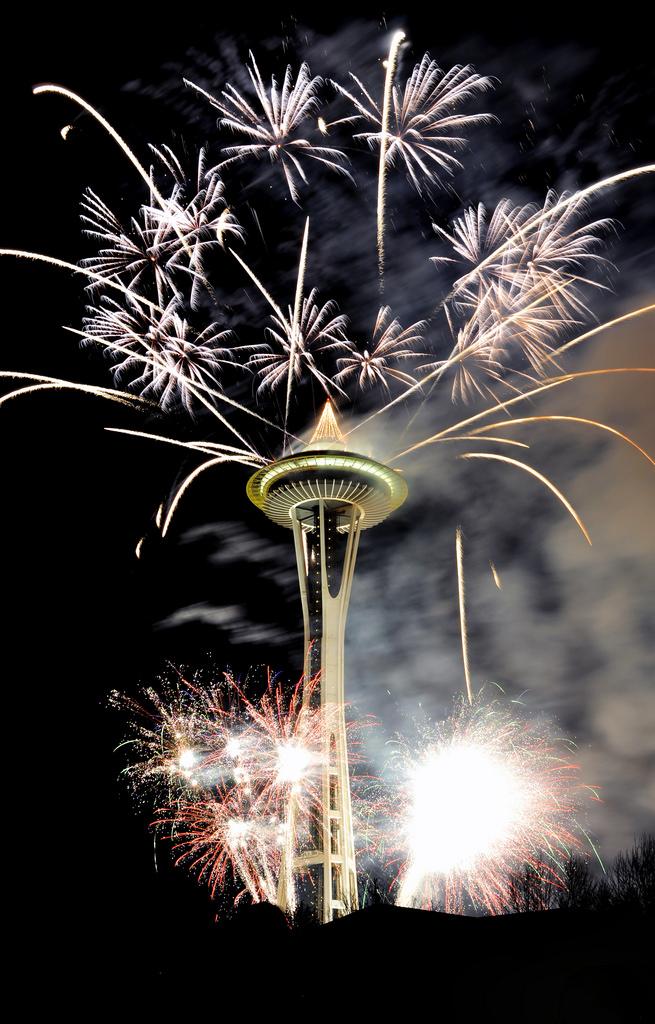 Feux d'artifices à Seattle